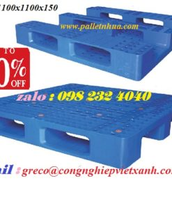 Pallet nhựa : 1100x1100x150mm