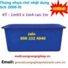 Thùng nhựa chữ nhật dung tích 2000 lít